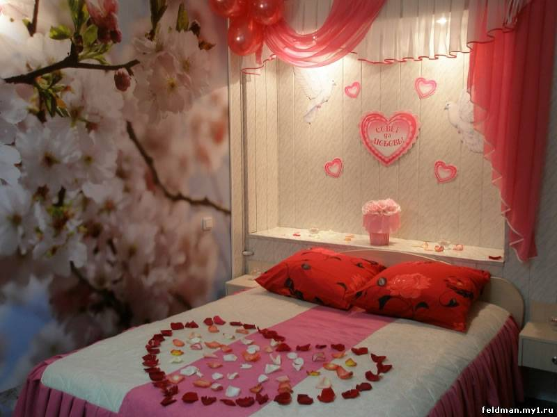 Романтические украшения комнаты своими руками